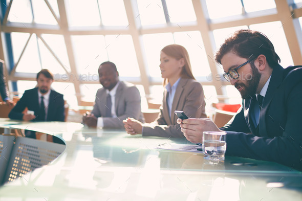 People at conference - Stock Photo - Images