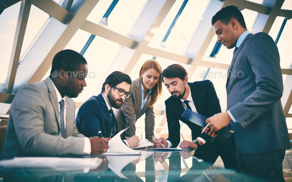 Group of partners - Stock Photo - Images