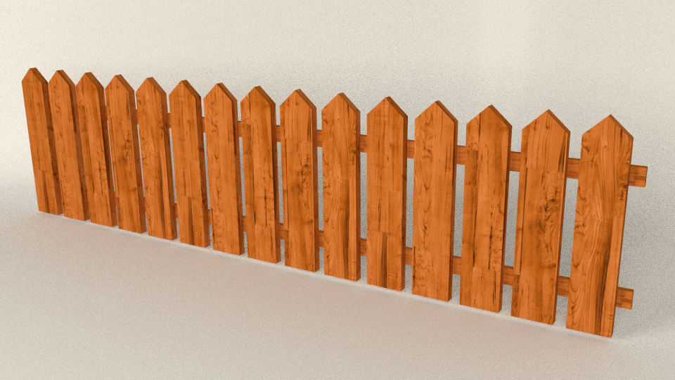Fence/Wall Seamless Set (low Poly) By 12jheller