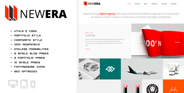 NEWERA - Smart Portfolio and Business Template - Portfolio Creative
