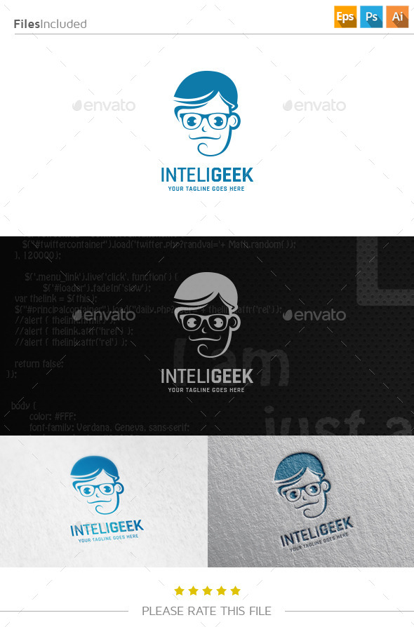 Geek Logo - Humans Logo Templates