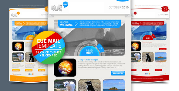 EUE Mail Template - Newsletters Email Templates