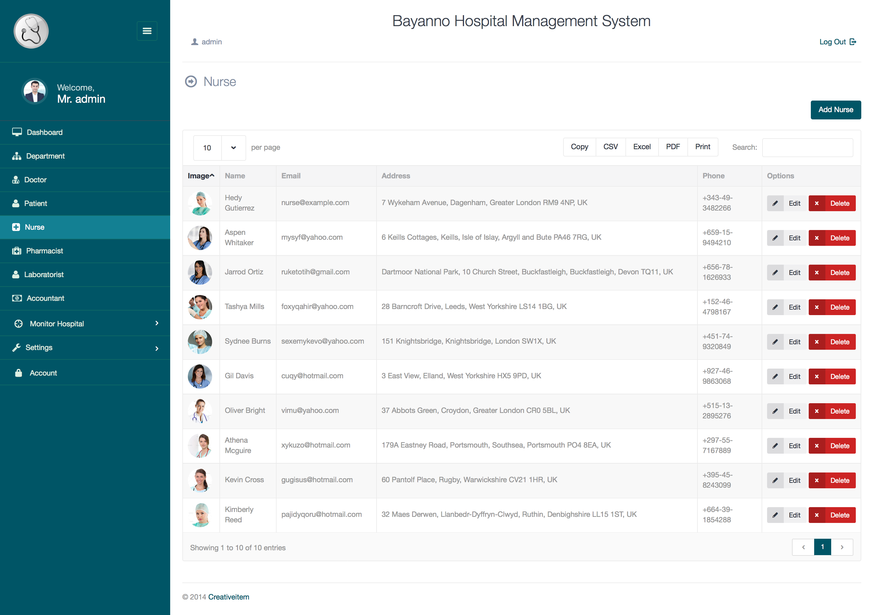Bayanno Hospital Management System by Creativeitem | CodeCanyon