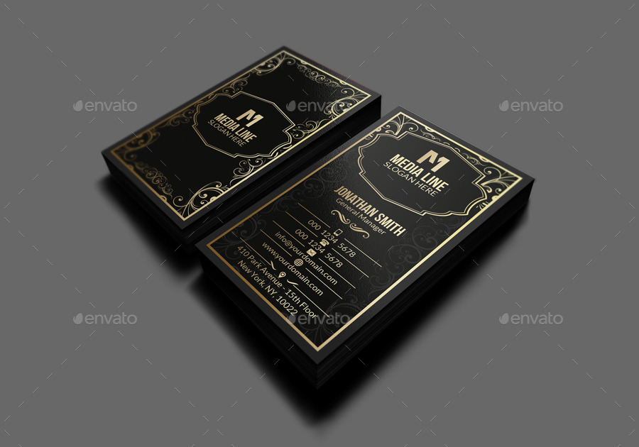 Retro gold business card by farstar60 graphicriver retro gold business card colourmoves