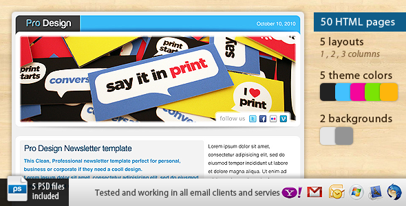 Free Download Pro Design Newsletter Template Nulled Latest Version
