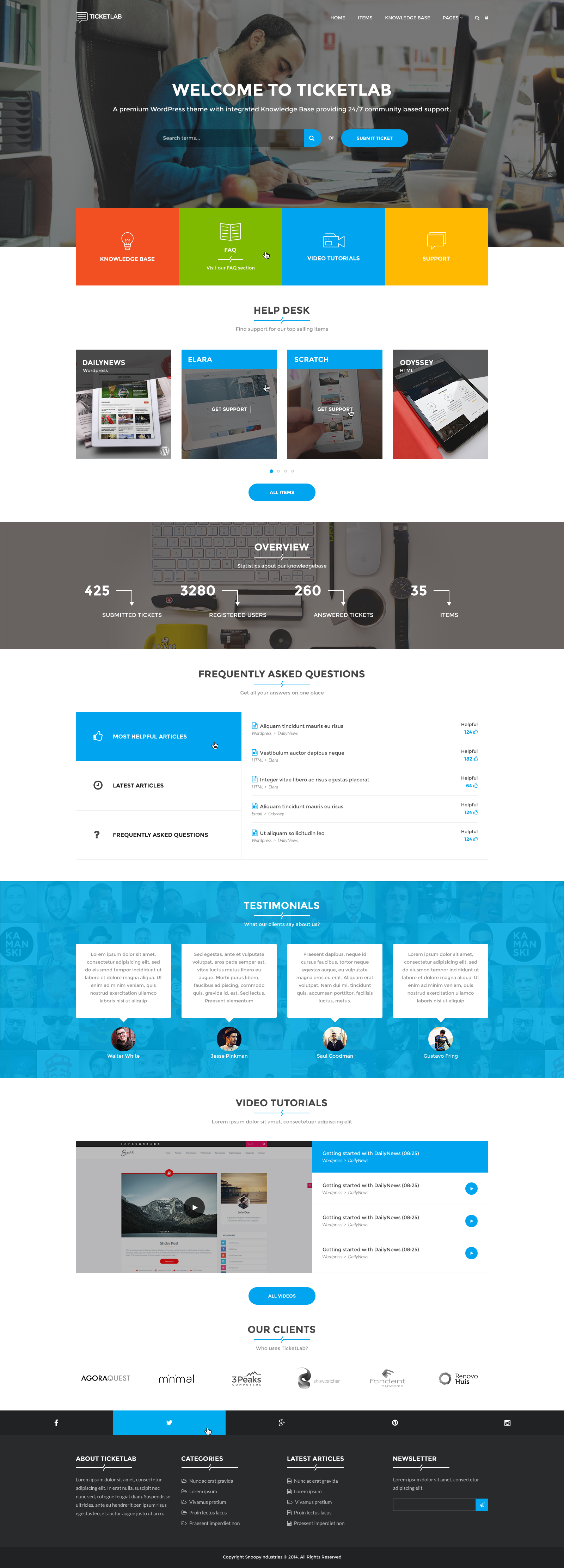 ticketlab helpdesk support and knowledge base psd template by bigbangthemes. Black Bedroom Furniture Sets. Home Design Ideas