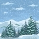 Christmas Winter Mountain Landscape - GraphicRiver Item for Sale