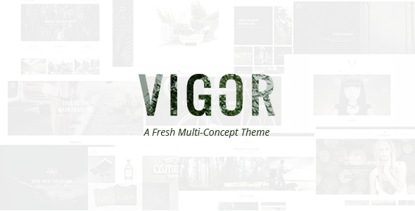 Vigor - A Fresh Multi-Concept Theme - Creative WordPress