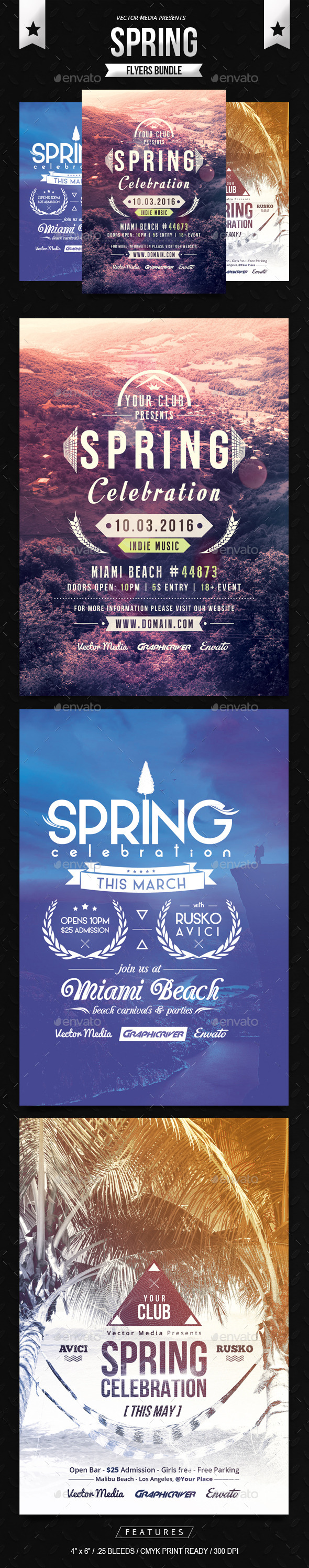 Spring - Flyers Bundle