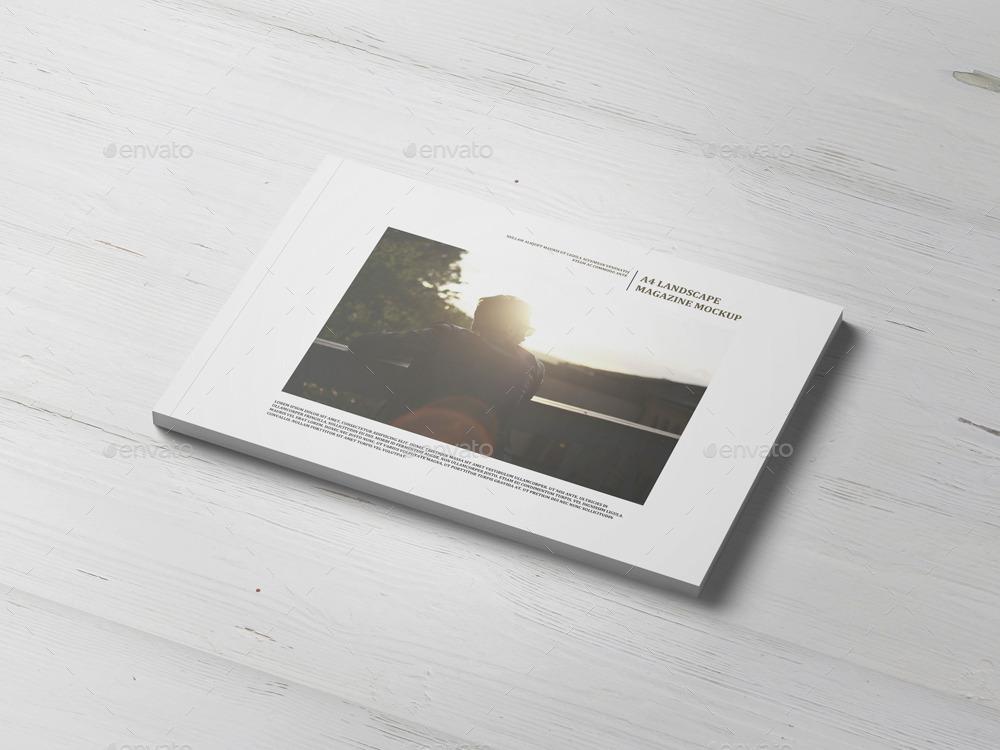 A4 Landscape Magazine Catalogue Mock Up By Professorinc