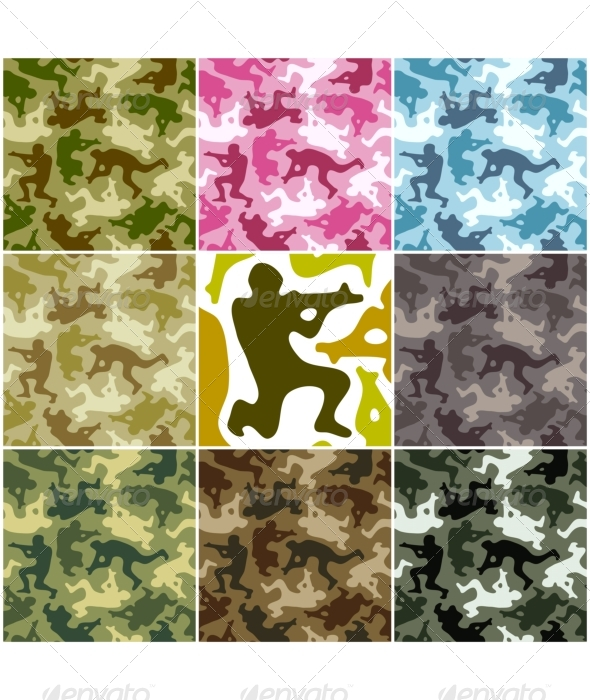 Camouflage set - Backgrounds Business
