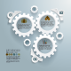 Cogwheels Infographic Concept Background - GraphicRiver Item for Sale
