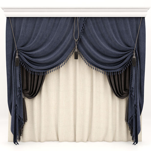 curtains 02 - 3DOcean Item for Sale