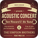 Acoustic Concert Flyer  - GraphicRiver Item for Sale