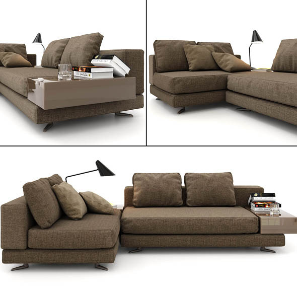 minotti sofa - 3DOcean Item for Sale