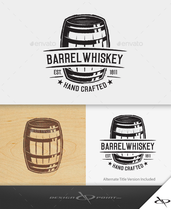 Barrel whiskey logo by designpoint graphicriver for Old camp whiskey shirts