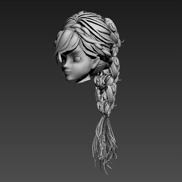 Hair Rock By Hshallan1 3docean
