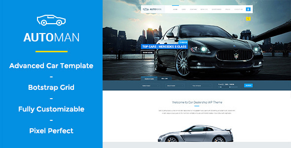 Automan – Advanced Car Dealer PSD Template