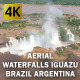 Aerial Waterfalls Iguazu Brazil Argentina  - VideoHive Item for Sale