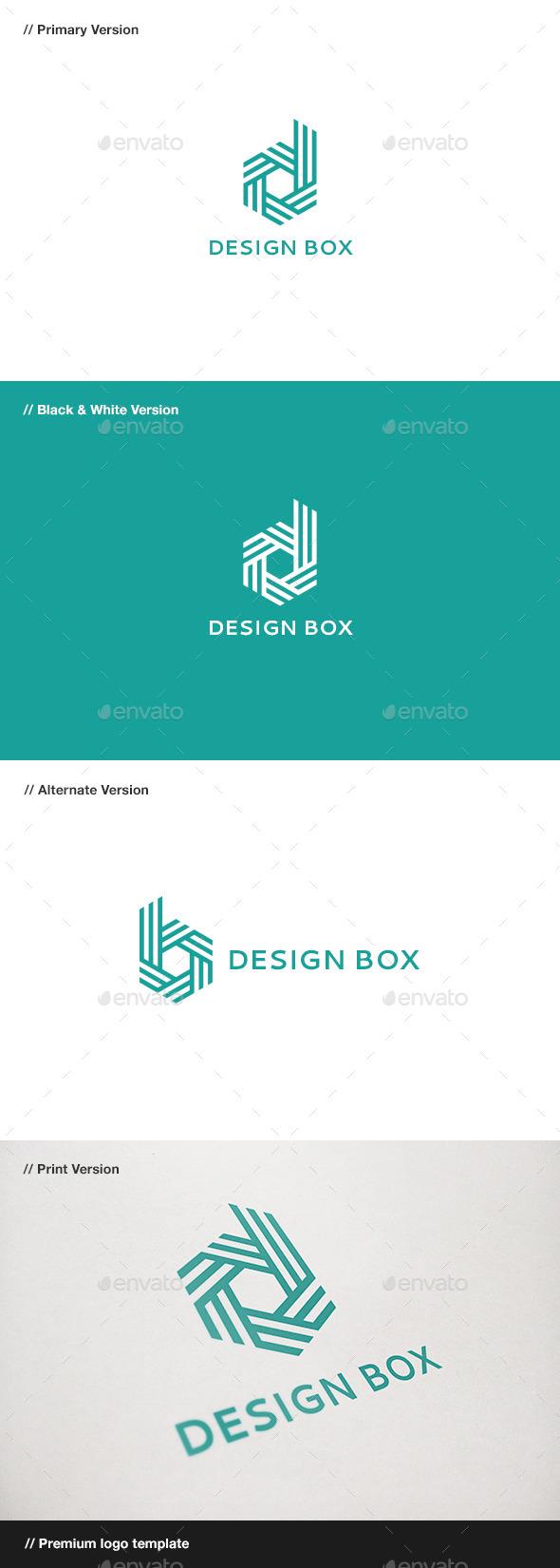 Design box letter d b logo by domibit graphicriver design box letter d b logo letters logo templates spiritdancerdesigns Gallery