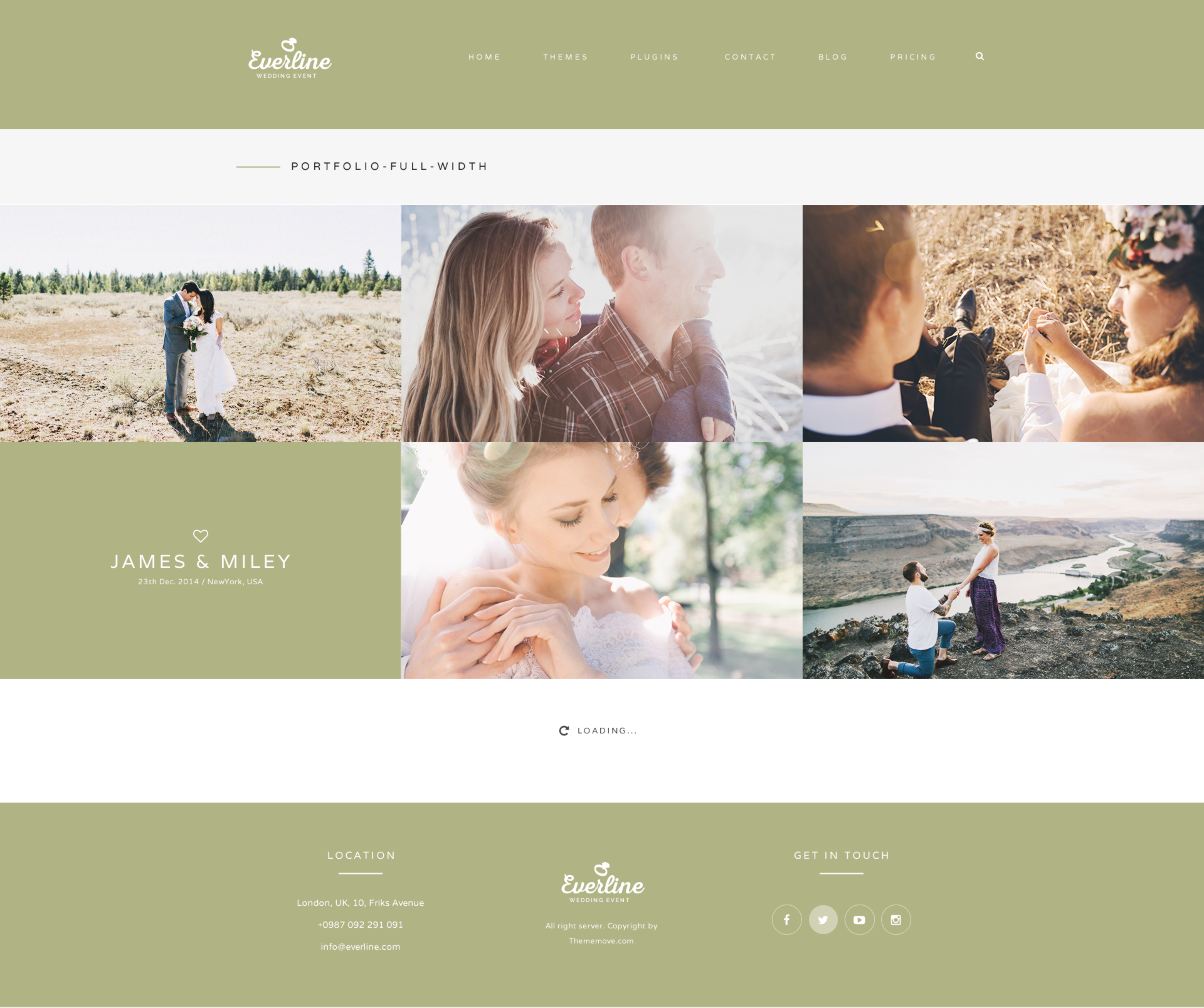 Everline wedding events html template by plazart themeforest everline wedding events html template maxwellsz