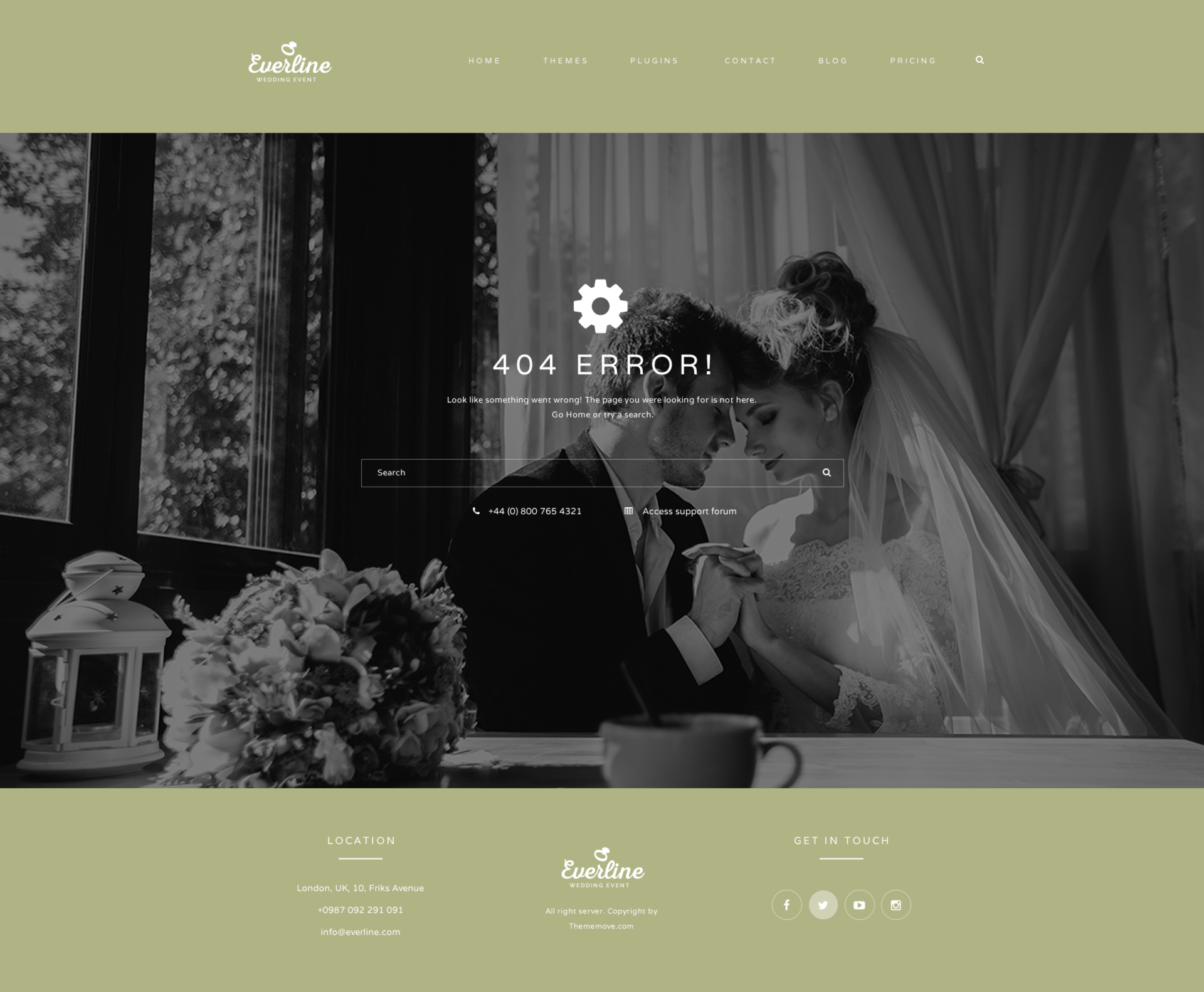 Everline - Wedding Events HTML Template by plazart | ThemeForest