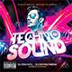 Techno Sound CD Cover - GraphicRiver Item for Sale