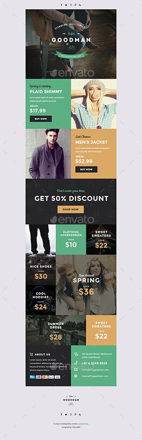 Jeffry Goodman - E-commerce E-newsletter Template