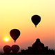 Air Balloons go Up in Sunrise in Bagan 2 - VideoHive Item for Sale