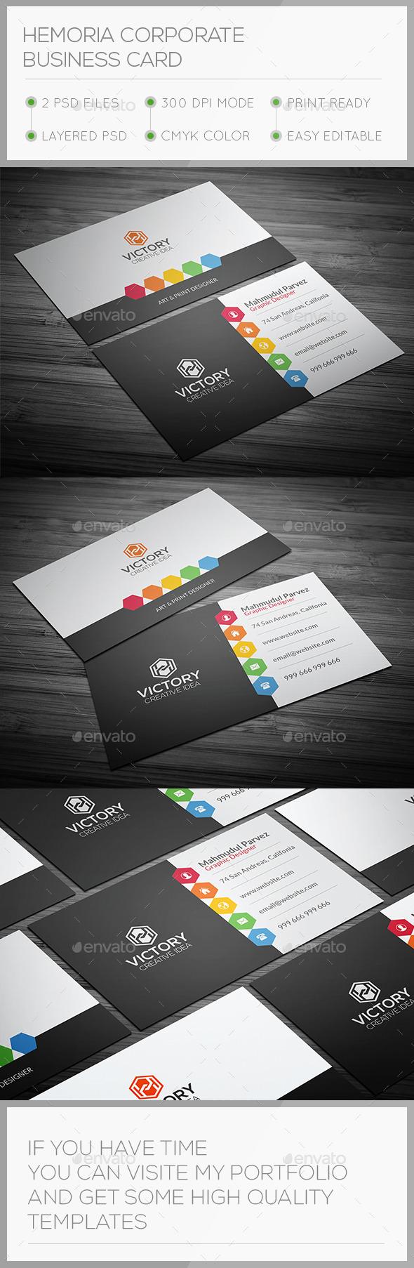Hemoria Corporate Business Card - Corporate Business Cards