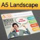 Advertising / Creative Agency A5 Landscape Brochur - GraphicRiver Item for Sale