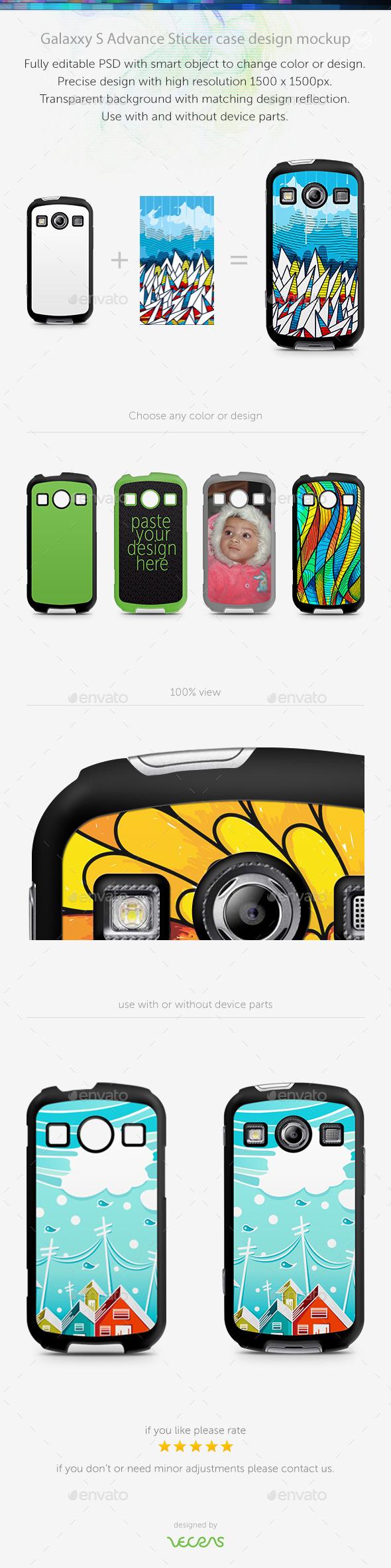 Galaxxy X Cover 2 Sticker Case Design Mockup