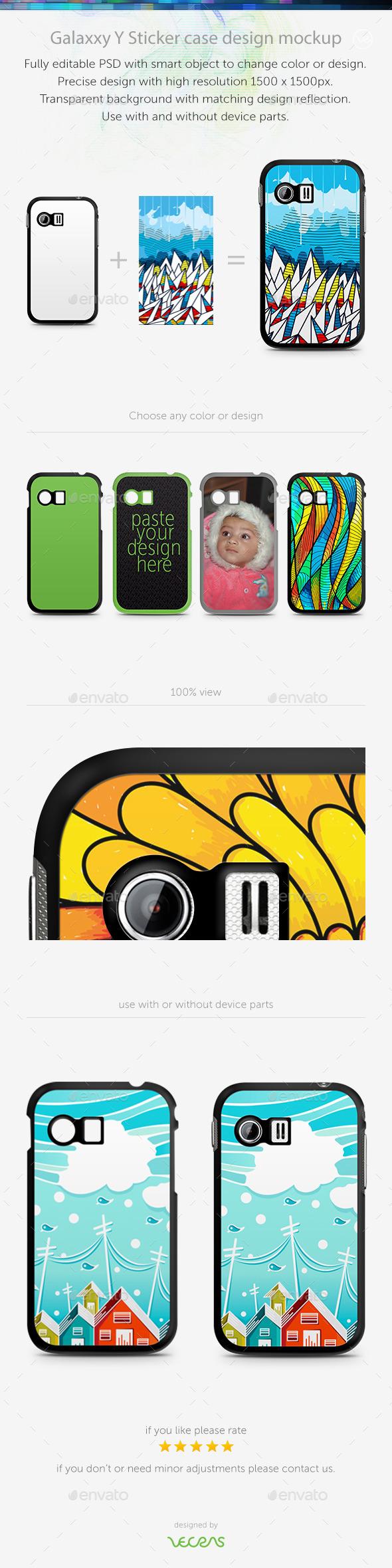 Galaxxy Y Sticker Case Design Mockup