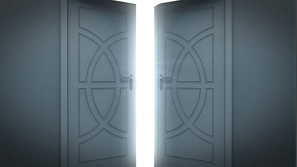 Doors Opening To A Bright Light By Se5d Videohive