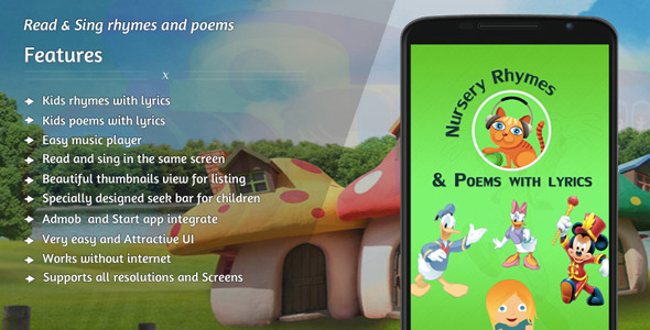 Nursery rhymes and poems with lyrics - Online - CodeCanyon Item for Sale
