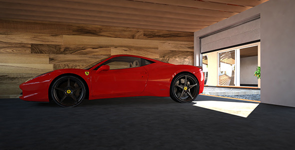 FULL Car presentation SCENE Vray C4D  - 3DOcean Item for Sale