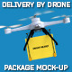 Delivery By Drone Package Mock-Up - GraphicRiver Item for Sale