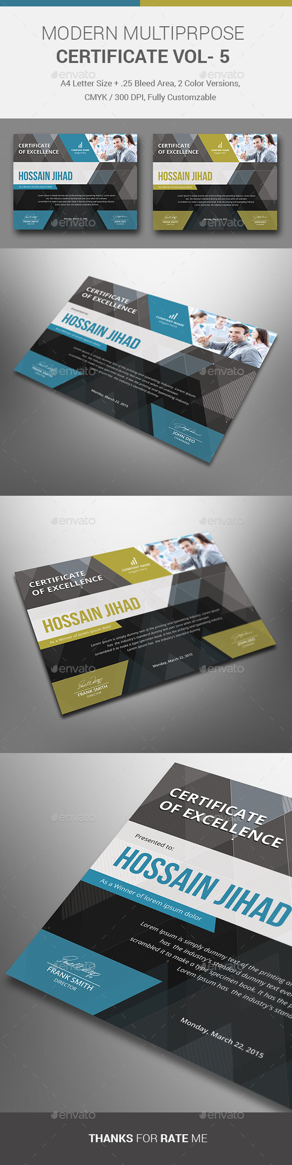 Certificate templates designs from graphicriver page 31 yelopaper Image collections