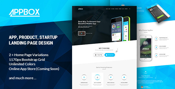 AppBox – App Landing PSD Theme
