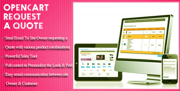OpenCart Request a Quote - CodeCanyon Item for Sale