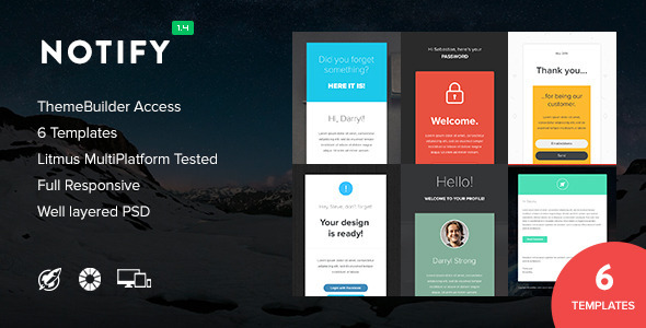 Notify – Notification Email + Themebuilder Access