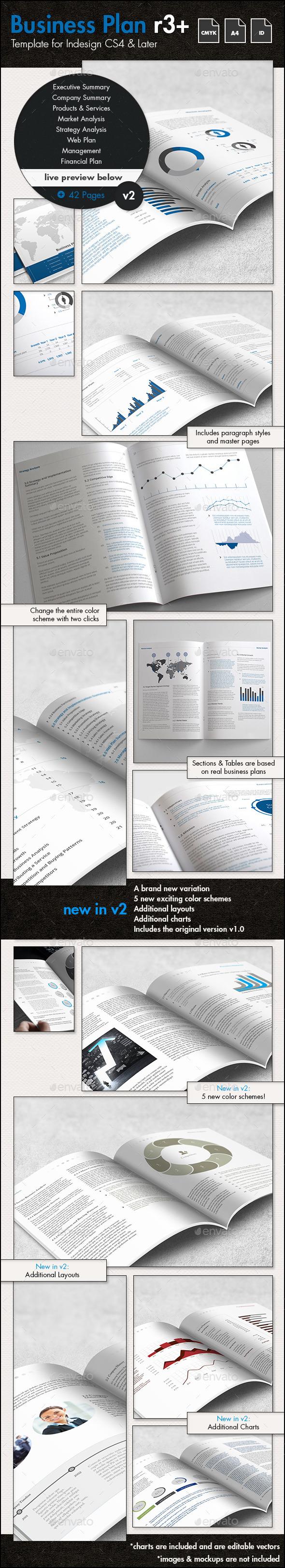 Professional Business Plan Template - A4 Portrait - Corporate Brochures
