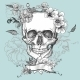 Skull and Flowers Day of The Dead - GraphicRiver Item for Sale