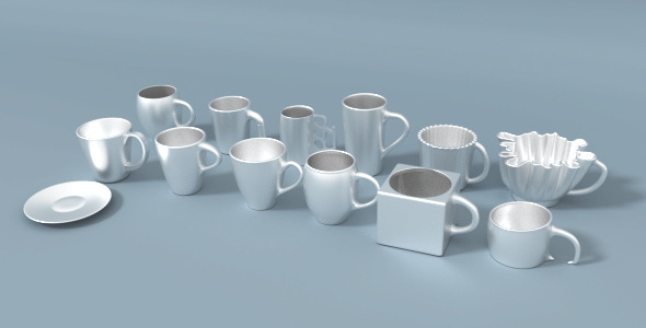 Coffee Cup Repository - 3DOcean Item for Sale