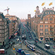 Busy European City Center With Passing Trams - VideoHive Item for Sale