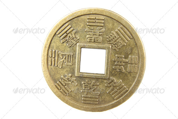 Chinese Antique Coin - Stock Photo - Images