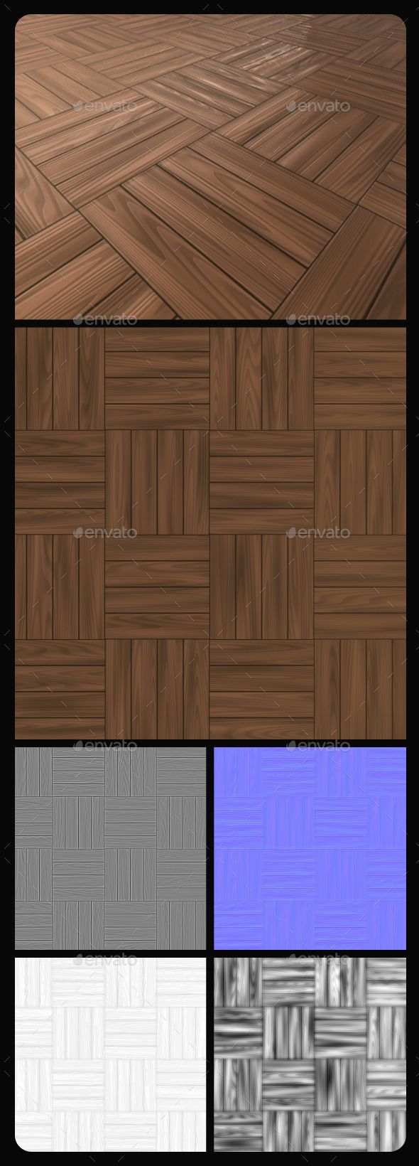 Wood Tile Texture - 3DOcean Item for Sale
