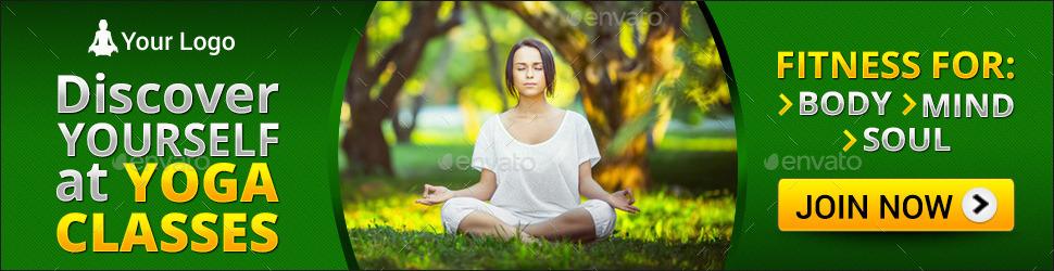 Yoga Mediation Banner Set By Nishamehta Graphicriver