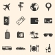 Set of Travel and Vacation Icons - GraphicRiver Item for Sale