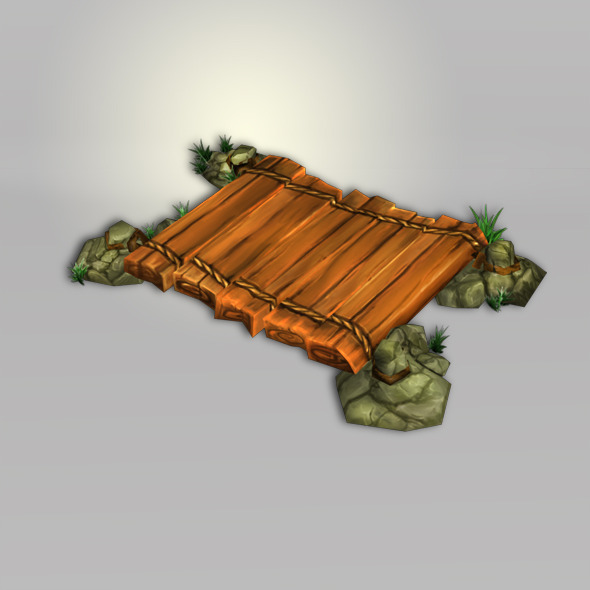 Wood Bright Low Poly - 3DOcean Item for Sale